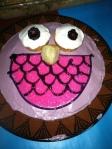 Owl bird dey cake
