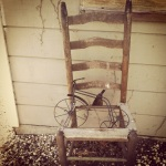 old chair outside